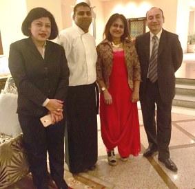 (L - R ) Me with  Mohini Shrestha, Chef Santosh Koradia and Suman Shrestha